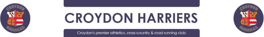 Croydon Harriers - Lawrence represents Surrey at the Inter Counties